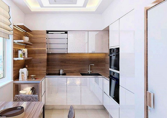 Практичный дизайн для маленькой кухни