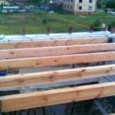 Деревянные балки перекрытия для большого пролета
