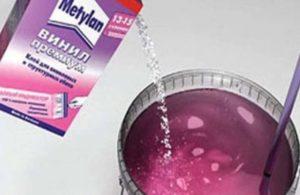 Клей метилан для флизелиновых обоев по правильному приготовлению и использованию клея «Metylan» от мастеров