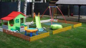 Обустройство детской площадки на даче
